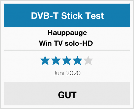 Hauppauge Win TV solo-HD  Test