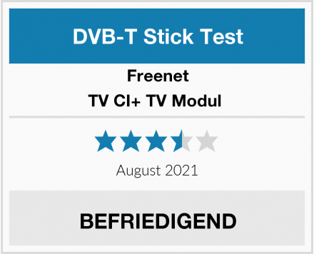 Freenet TV CI+ TV Modul  Test