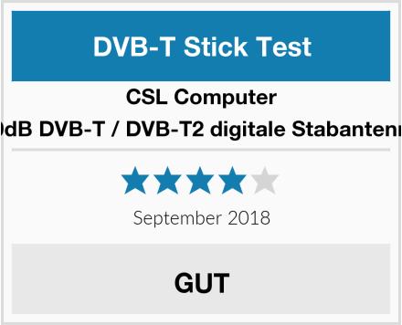 CSL-Computer 30dB DVB-T / DVB-T2 digitale Stabantenne Test