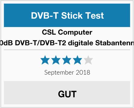CSL-Computer 30dB DVB-T/DVB-T2 digitale Stabantenne Test