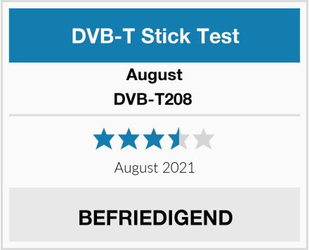 August DVB-T208  Test