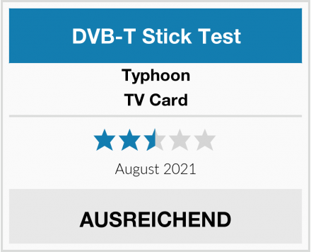 Typhoon TV Card Test