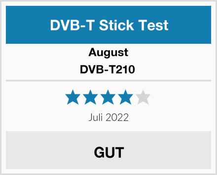 August DVB-T210  Test