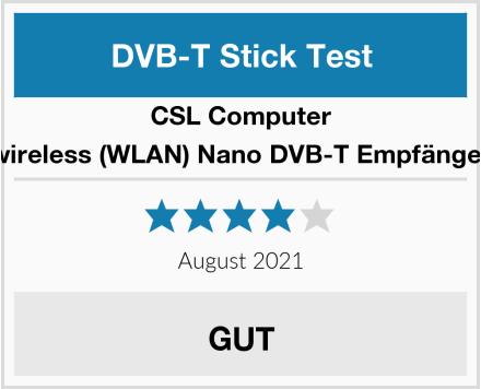 CSL-Computer wireless (WLAN) Nano DVB-T Empfänger Test