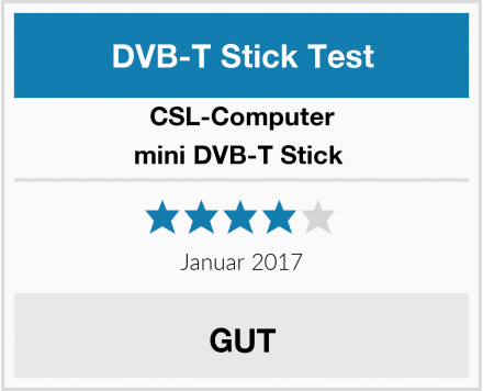 CSL-Computer mini DVB-T Stick  Test