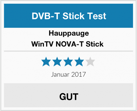 Hauppauge WinTV NOVA-T Stick  Test